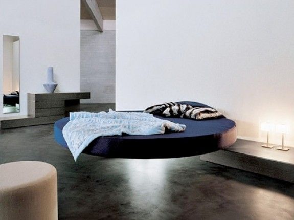 bedroom fashionable and comfortable modern round beds modern bedroom with dark modern cool round floating bed fluttua c by lago also dark laminating floor
