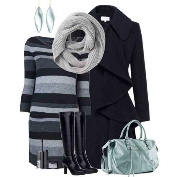 Winter dressy: blk & greys