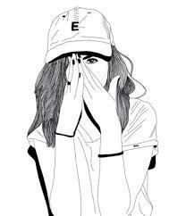 Resultado de imagen de dibujos faciles de chicas tumblr                                                                                                                                                     Más