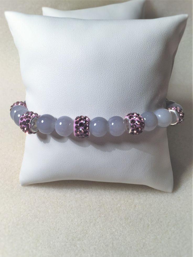 """Bracelet """"Les perles de gris et de rose"""" : Bracelet par les-breloques-de-bel"""