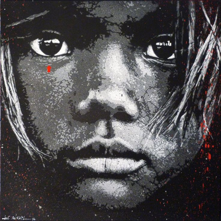 jef aerosol young age jef a rosol 2014 stencil on canvas pochoir sur toile 60 x 60cm. Black Bedroom Furniture Sets. Home Design Ideas