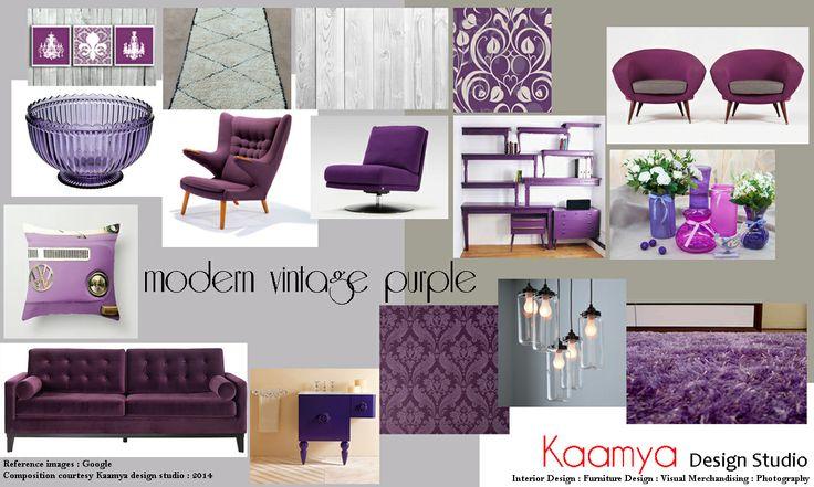 Modern Vintage...purple chic !!