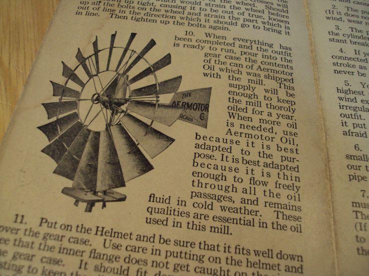RARE 1930 Assembly Instructions~THE AERMOTOR WINDMILL COMPANY~Ephemera~Paper~ | eBay