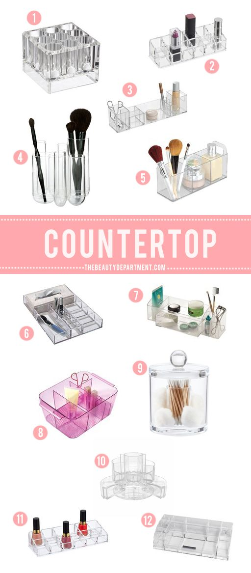 perfect beauty organizers for your bathroom + vanity countertops!