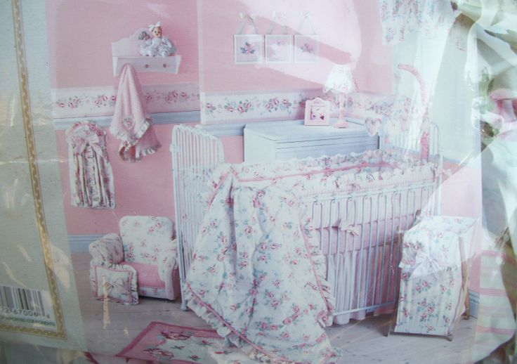 New Lambs Ivy Vintage Baby 6 Piece Crib Bedding Set Girl