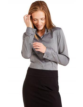 Szara koszula damska Lambert  75194 w sklepie internetowym Wolczanka.pl! Szybka dostawa, wysoka jakość. Koszula damska EvemarkiLambert w kolorze