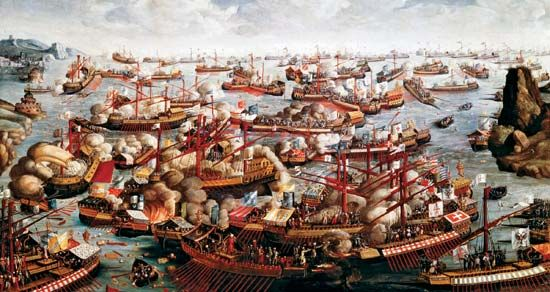 Battle of Lepanto: (October 7, 1571), naval engagement in the waters off southwestern Greece between the allied Christian forces of the Holy League and the Ottoman Turks during an Ottoman campaign...