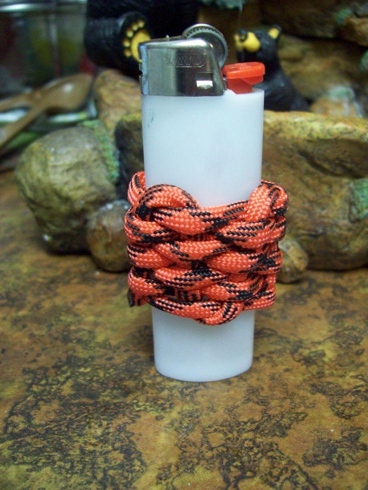 Paracord lighter cover 550 cord pinterest light for Paracord lighter holder