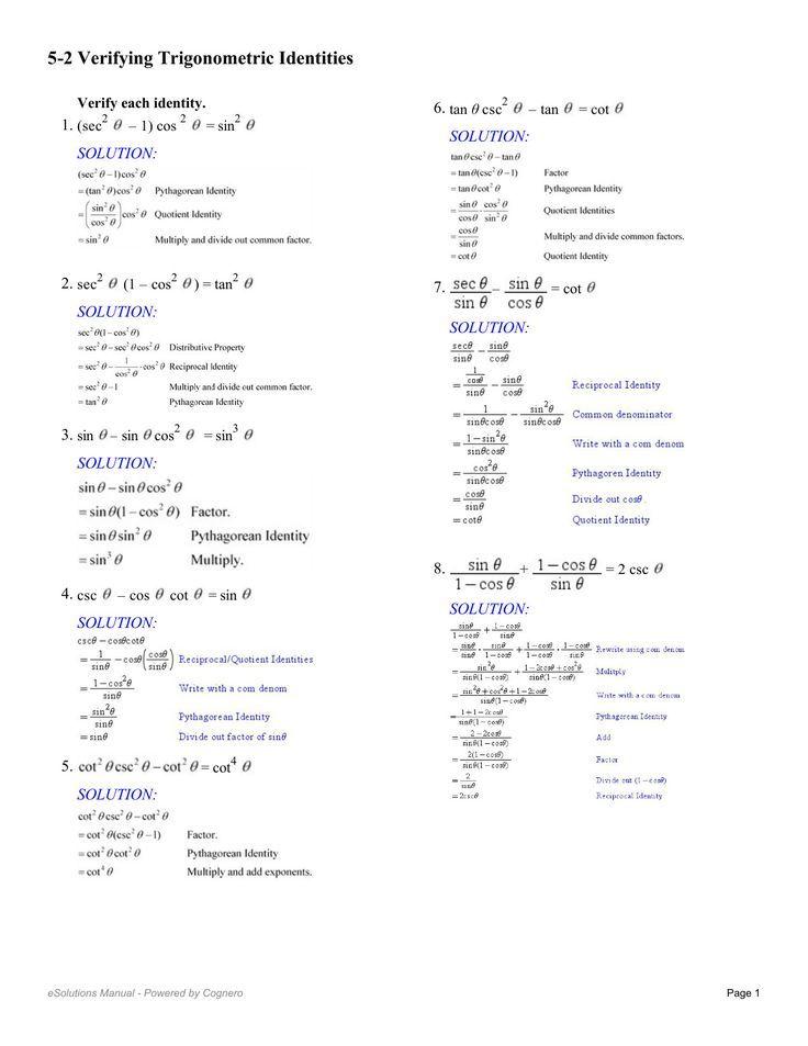 Trigonometry Identities Trigonometry Identities Trigonometrie