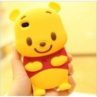 3D Cute Winnie Pooh Silicone Back Cover Case Skin ($1.45)