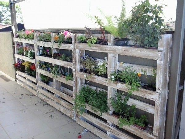 Pallets wall in my garden