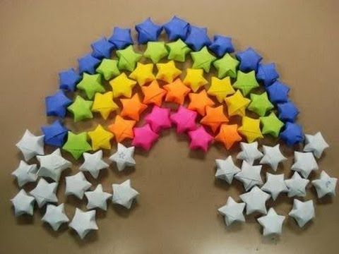 paper stars / origami stars tutorial | Could use as a classroom reward or for Abraham lesson