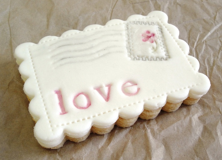 Love postcard cookie! Valentine This chick is genius. £4.00, via Etsy.