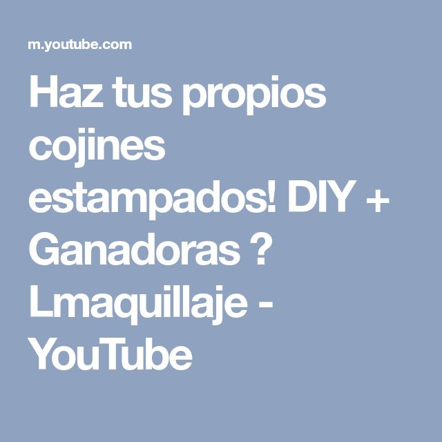 Haz tus propios cojines estampados! DIY + Ganadoras ♥ Lmaquillaje - YouTube