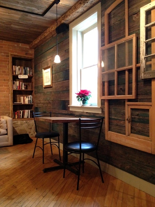 #Salvaged #reclaimed building materials #repurposed in the Timeless Cafe & Bakery