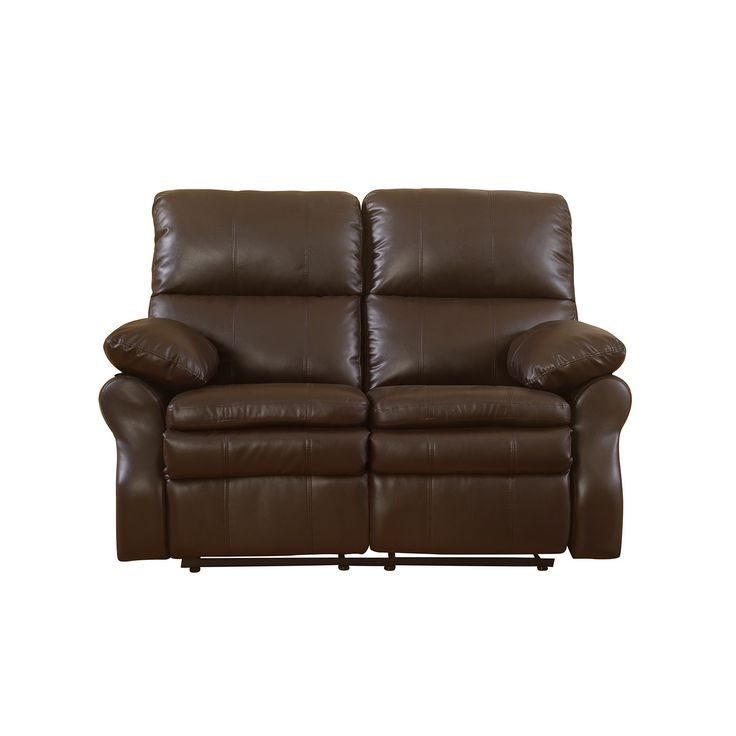 Madison Classic Brown Bonded Leather Oversize Double Recliner Loveseat (Brown)