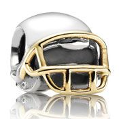 http://mitchumjewelers.com/fine-jewelry/pandora-jewelry-springfield-mo - Already have the football? Or want a two tone option? We have it! Another perfect bead to celebrate Super Bowl 46 with! Mitchum Jewelers.