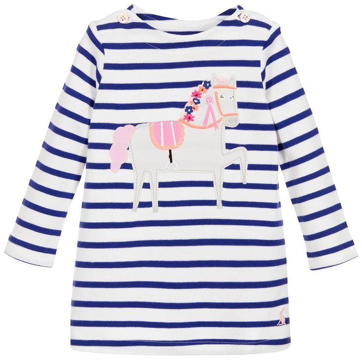 Joules Baby Girls 'Kaye' Jersey Dress with Pony at Childrensalon.com