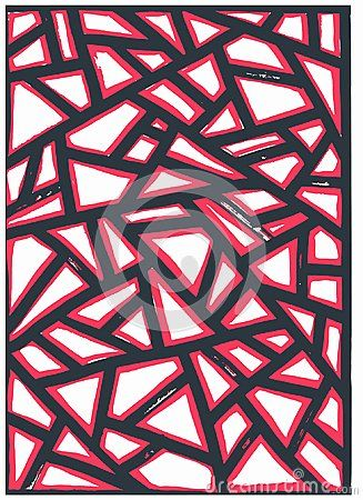 An intriguing patternwith sharp lines. Hand drawn and then perfected with my computer.