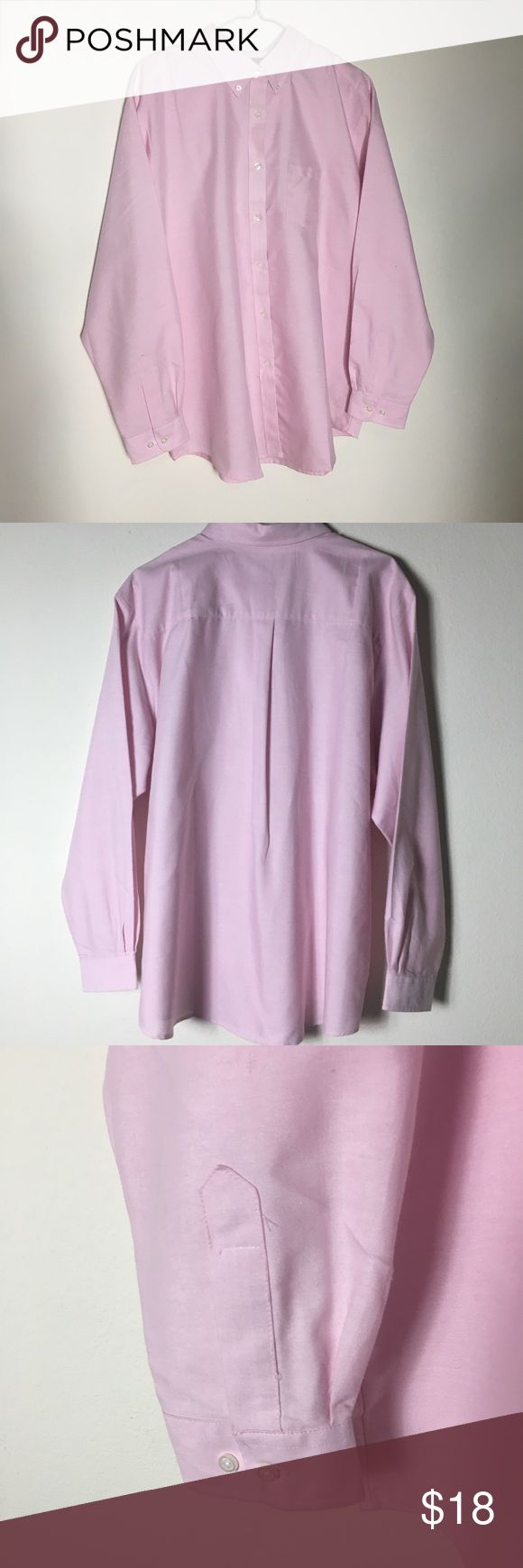 Ultra Club Pink Oxford XL Women Button Down Shirt. Brand: Ultra Club Size Type: Regular Size (Women's): XL Style: Button Down Shirt Material: 60% Cotton / 40% Polyester Color: Light Pink Occasion: Casual Pattern: Solid Sleeve Style: Long Sleeve Neckline: Button-Down Country: Bangladesh Length: 28.5 inches Width: 25.5 inches Wrinkle Free Ultra Club Tops Button Down Shirts
