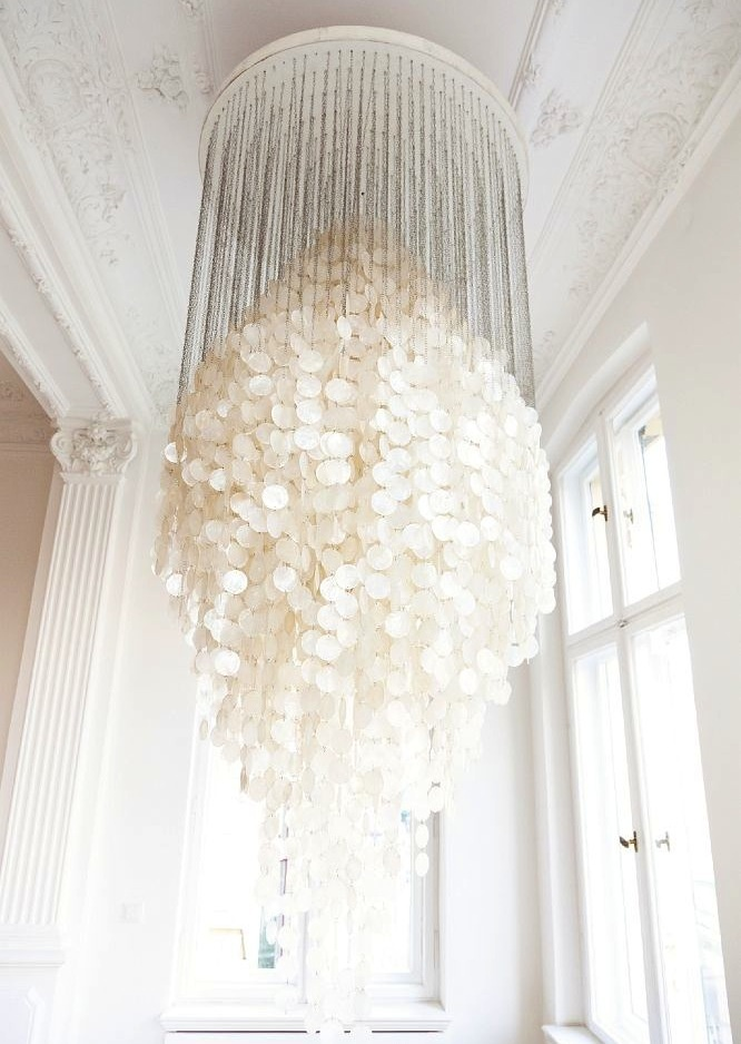Fun 8 Sea Shell Grand Chandelier by Verner Panton