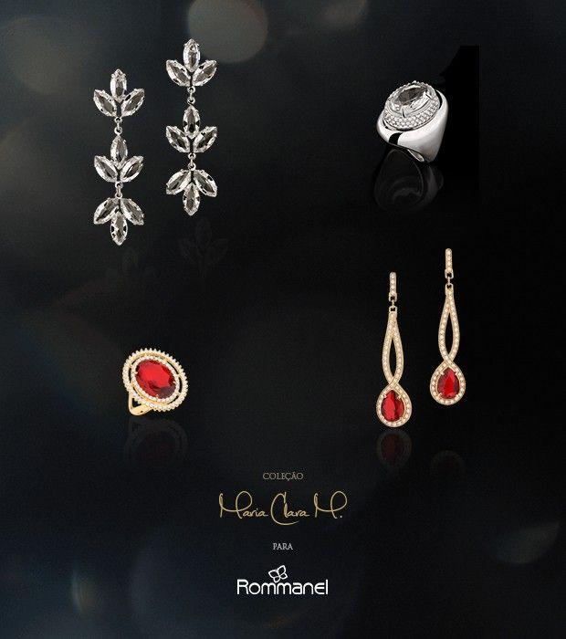 Coleção de joias criadas por Maria Clara é sucesso de vendas. Anel de rubi, diamante,  ouro. Quanto luxo! ♥