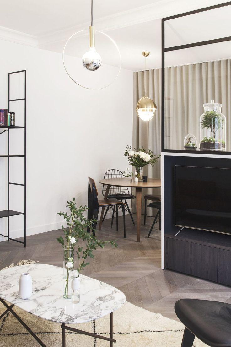 appartement paris 16 65 m2 raffin s avec verri re deco. Black Bedroom Furniture Sets. Home Design Ideas