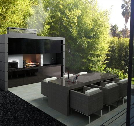 Barbacoa horno scura jardin pinterest barbacoa for Barbacoa diseno moderno
