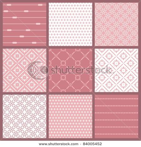 diverse roze patronen