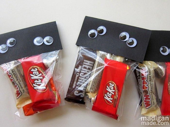 diy halloween treat bag diy easy halloween goody bag - Pinterest Halloween Treat Bags