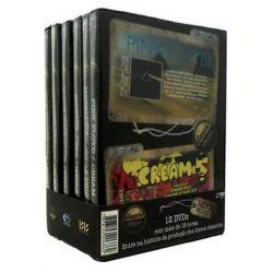 São 12 DVDs, com mais de 18 Horas de muita música e histórias.    O Box Conta com os seguintes títulos: DVD 1 - Pink Floyd - The Dark Side of the Moon DVD 2 - Pink Floyd - Cream - Disraeli Gears DVD 3 - Lou Reed - Transformer DVD 4 - Lou Reed - Fleetwood Mac - Rumours DVD 5 - Nirvana - Nevermind DVD 6 - Sex Pistols - Never Mind The Bollocks DVD 7 - Metallica - Metallica DVD 8 - Judas Priest - British Steet DVD 9 - Iron Maiden - The Number of the Beast DVD 10 - Def Leppard - Hysteria DVD 11…