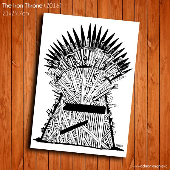 The Iron Throne (ink on paper, original drawing)