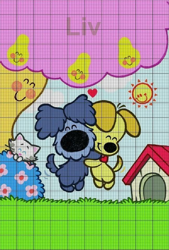Woezel en pip pixel patroon