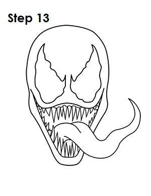 Venom Spiderman Drawing How to Draw Ven...