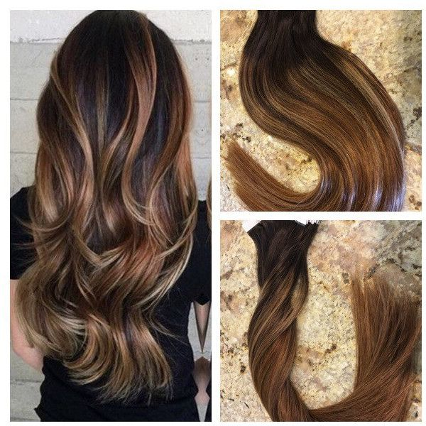 5 Star Ombre Balayage European Remy Tape-in Seamless Weft Hair... ($215) ❤ liked on Polyvore featuring accessories, hair accessories, dark olive, star hair accessories and hair extension accessories