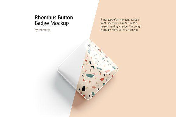 Download Rhombus Button Badge Mockup Design Mockup Free Psd Template Free Mockup Free Psd
