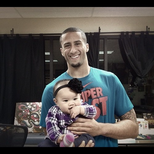 Colin Kaepernick and baby | 49ers | Pinterest | Colin ...