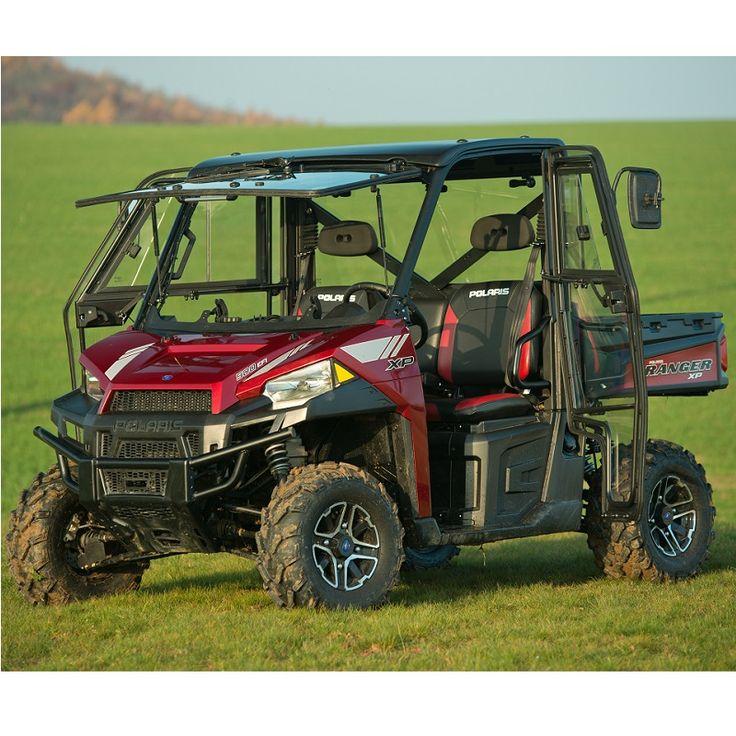 kawasaki mule pro-fxt soft rear doors / rear window combo | all