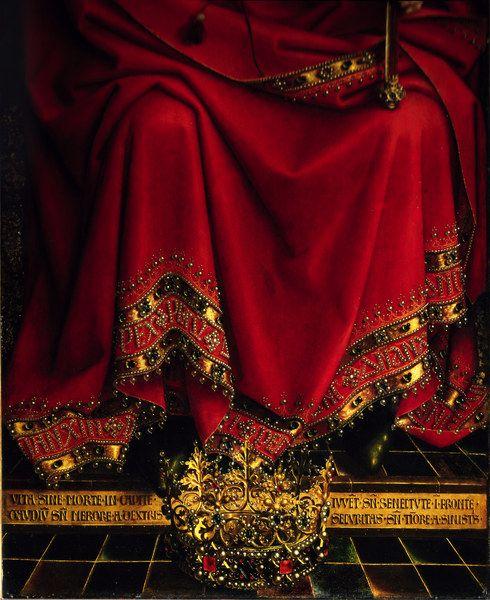 cauldronandcross:  Detail of the Ghent Altarpiece by Jan van Eyck 1432