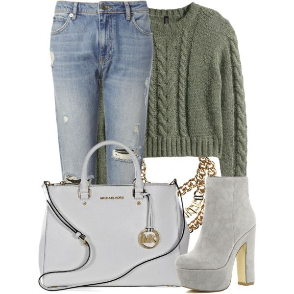 A fashion look from December 2014 featuring H&M sweaters, Whistles jeans and River Island ankle booties. Browse and shop related looks.