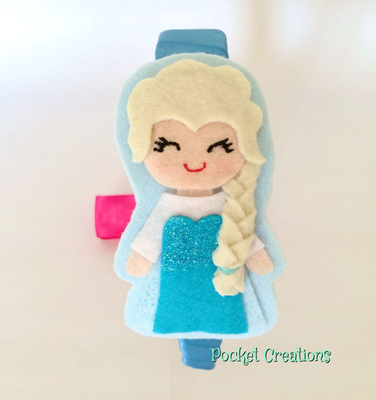 Elsa #handmade #hairband #felt #feltro #frozen #hair #accessories #kidswear