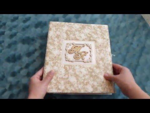 Скрапбукинг Свадебный фотоальбом - YouTube