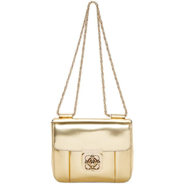 Chloe Gold Leather Small Elsie Bag (9.012.160 IDR) ? liked on ...