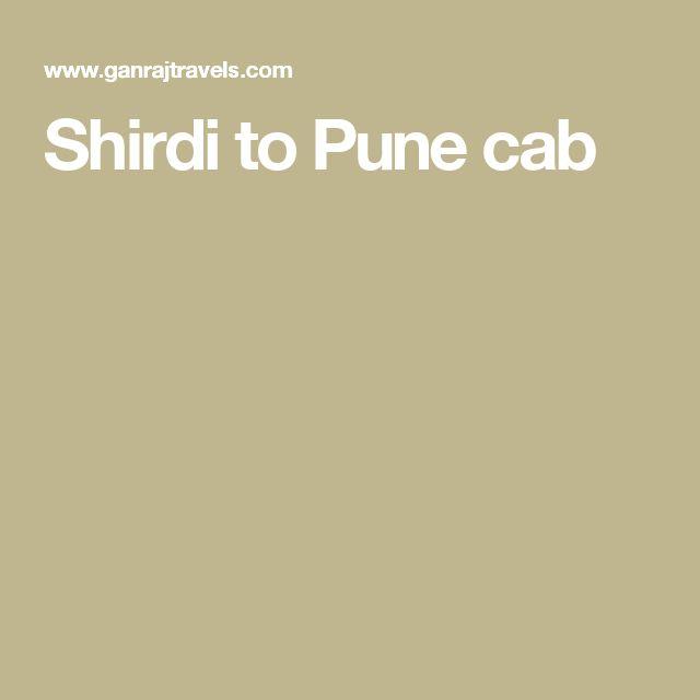 Shirdi to Pune cab