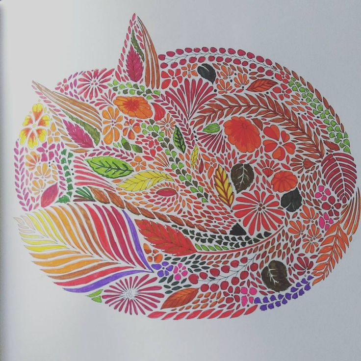Colouring Times Milliemarotta Fox Colour Adultcolouring