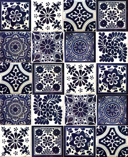 Blue & white tiles www.hadeda-tiles.com