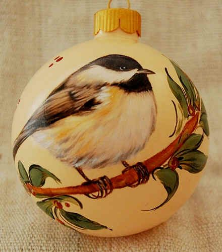 Hand Painted Christmas Ball Ornaments - Chikadee Glass Balls