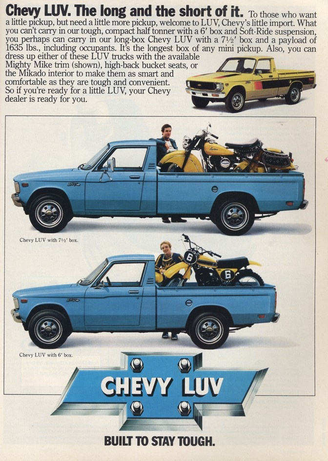 chevrolet luv truck ad