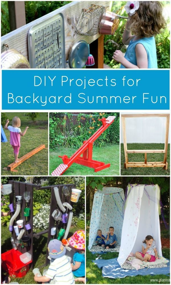 These summer DIY projects will have kids begging to stay outside all day to play! Perfect for outdoor fun and exercise!