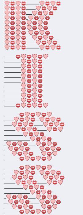 Design the symbol of love with emoji art.